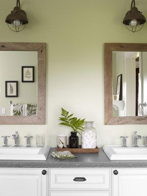 I love the look of this bathroom. How To Clean a Room Fast - Quick Cleaning Tips - Good Housekeeping