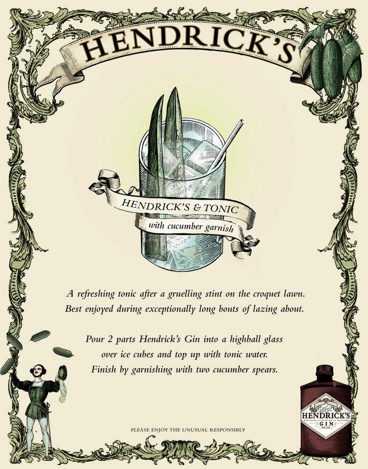 Was recently introduced to Hendrick's Gin and tonic - my new absolute favorite drink!