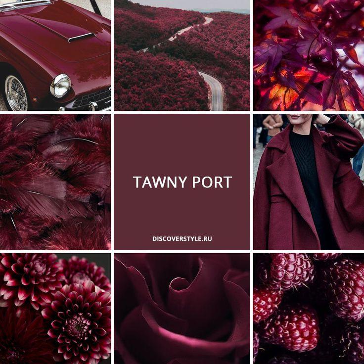 цвет осень зима 2017 pantone бордовый винный Tawny Port