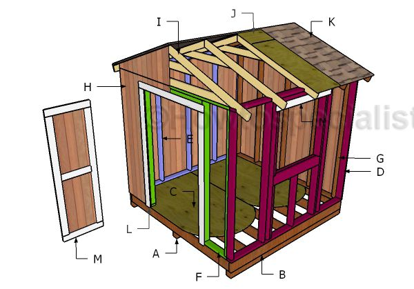1000 ideas about 8x8 shed on pinterest wooden playhouse for 8x8 house plans