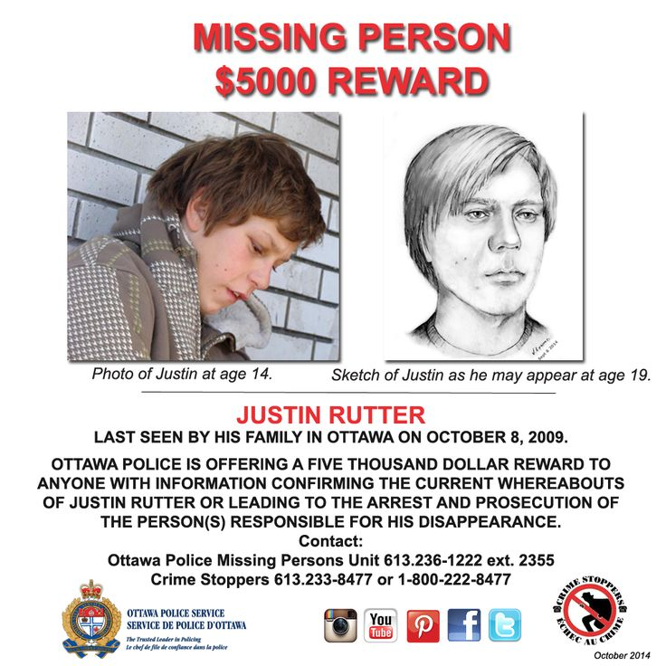 The Missing Persons Unit continues to appeal to the public for tips to locate missing teenager Justin Rutter. A recent tip suggests that Justin may be in the Vancouver area.