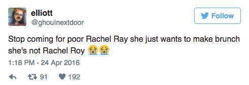 Or cook brunch… | Important PSA For Beyoncé Fans: Rachael Ray Is Not Rachel Roy