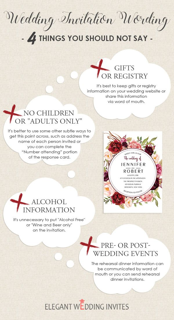 Wedding Invitation Wording 4 Things You Should Not Say With