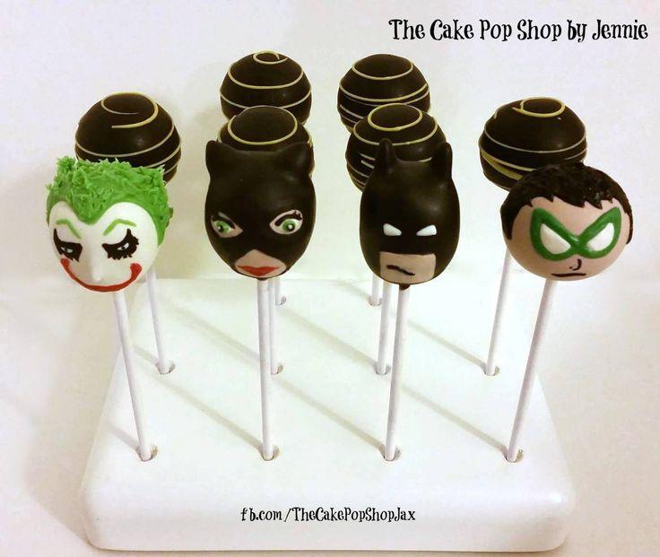 Batman cake pops! Batman, Robin, Catwomen and the Joker