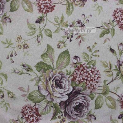 Ύφασμα Κουρτίνας bouquet loneta  (online παραγγελίες)