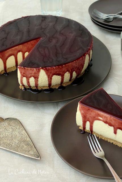 Blackberry Cheesecake - Tarta mousse de queso y moras - La Cuchara de Neter por Ángel Soliño: