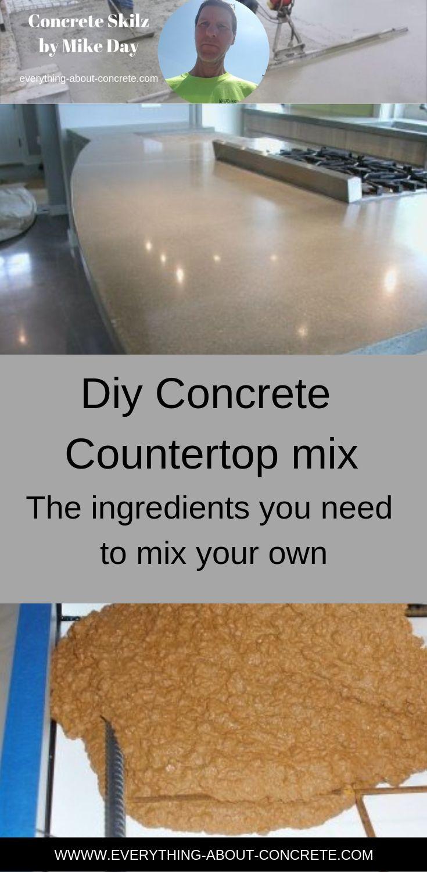 Diy Concrete Countertop Mix Recipe Concrete Countertop Mix