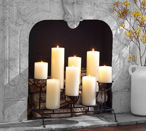 10 Fireplace Essentials to Cozy Up With - Candle Holder - from InStyle.com