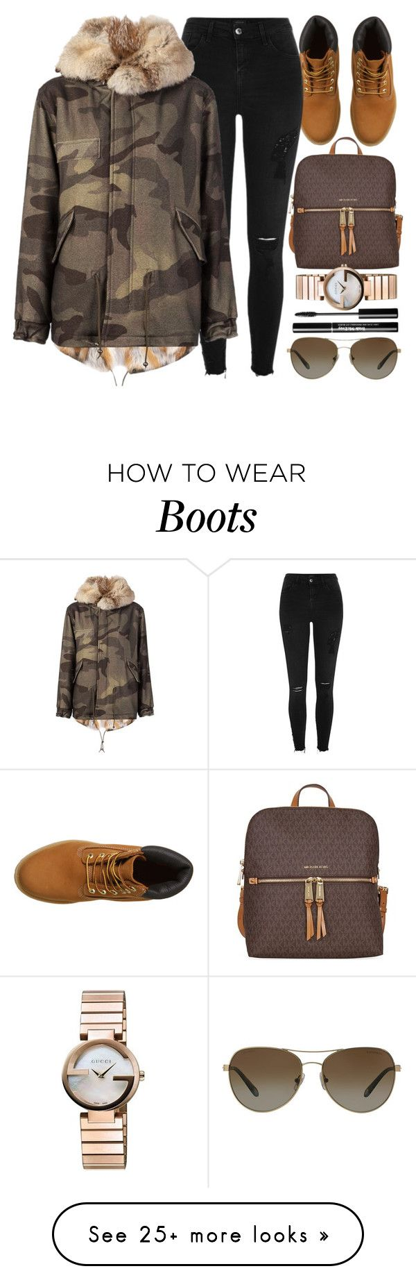 """Ten Twenty"" by monmondefou on Polyvore featuring Timberland, River Island, Mr & Mrs Italy, Gucci, Tiffany & Co., GREEN and brown"