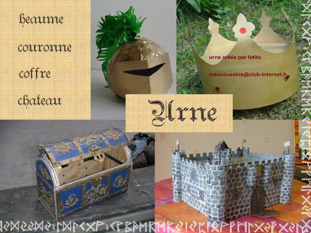 Décoration mariage idées thème médieval urne