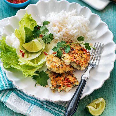 Chili, koriander och citrongräs ger fiskbiffarna en underbar asiatisk touch.