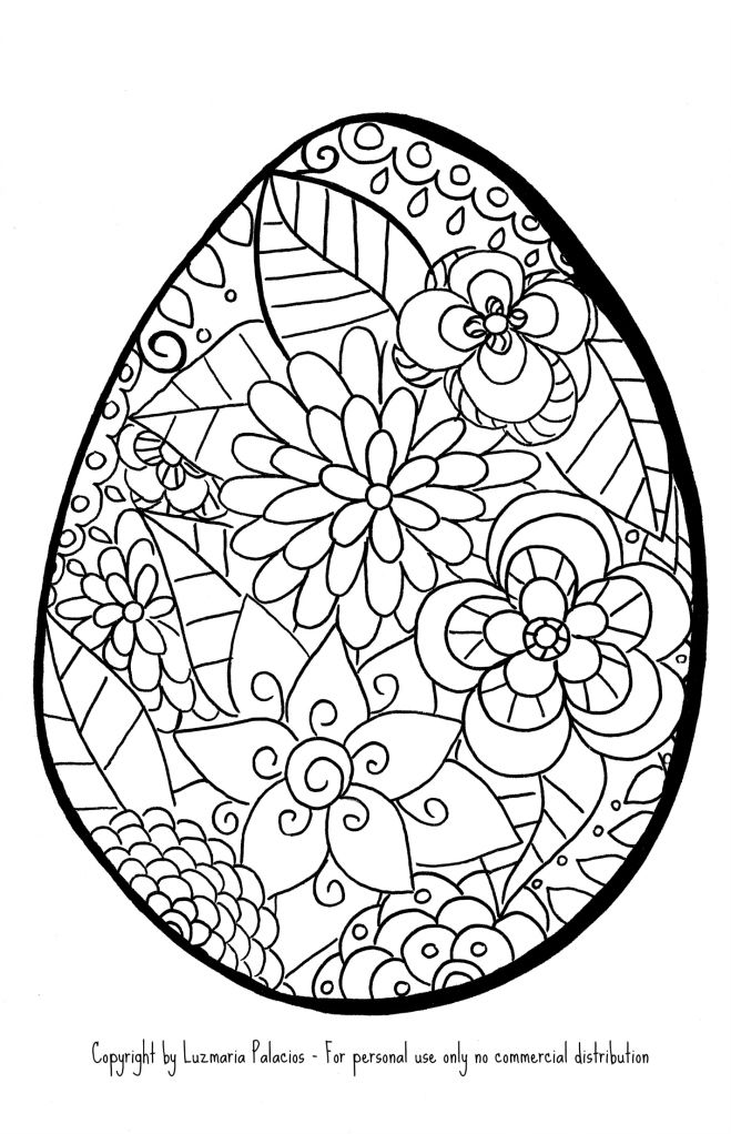88 Easter Egg Colouring Pages For Adults
