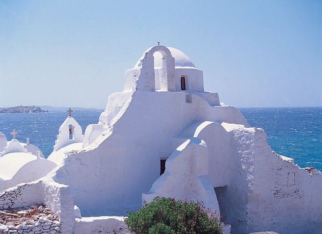 Paraportiani church, a famous monument in Mykonos Town