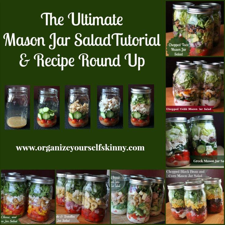 The Ultimate Mason Jar Salad Tutorial and Recipe Round Up