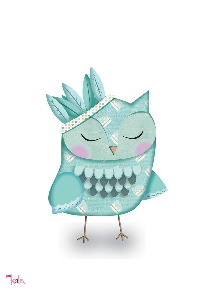 feathers in my hat | Kale | madeit.com.au #owl #madeitau