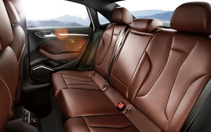 2016 Audi A3 interior, rear seats