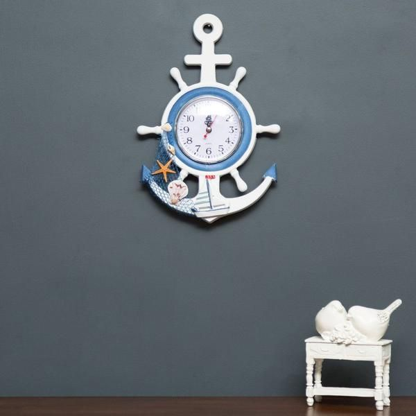 The Anchor - Wall Mounted Clock   Home decor items online, Anchor