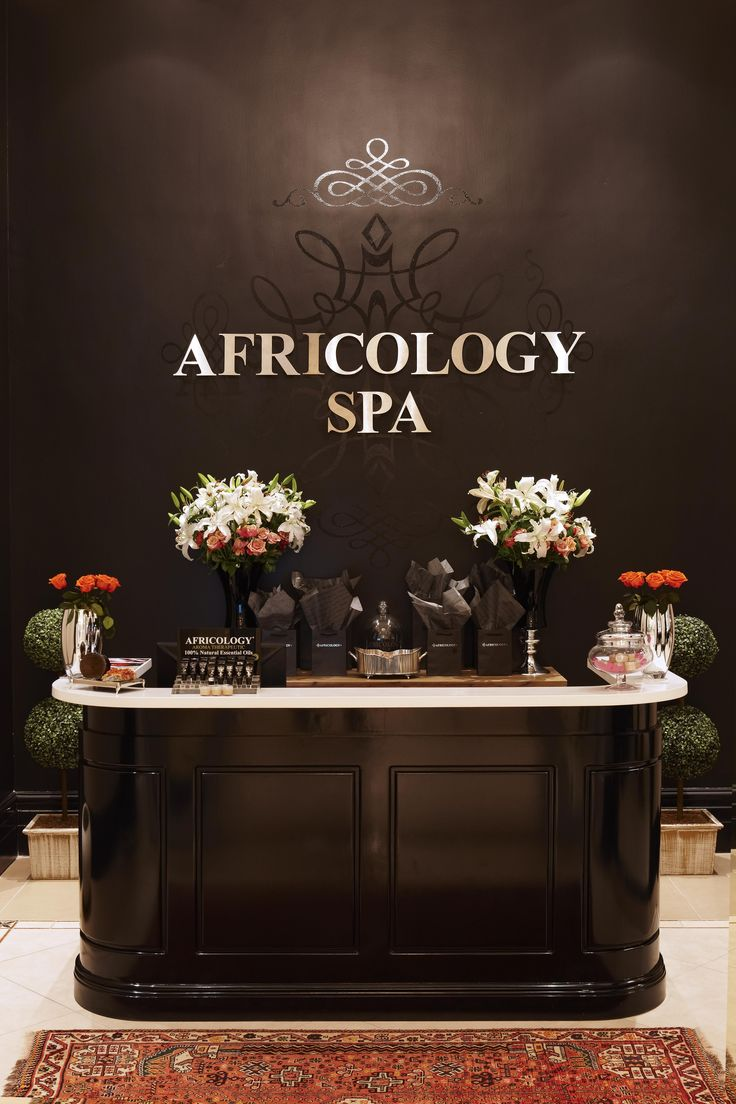 Reception area at the Africology Spa