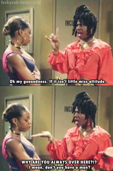 Sheneneh asking Pam why Martin didn't invite her to the pahhty.