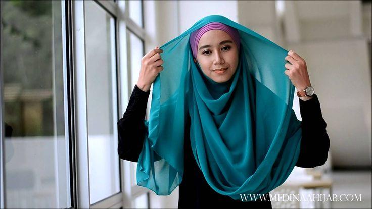 Wide Shawl Tutorial by Medinaa HIjab #2