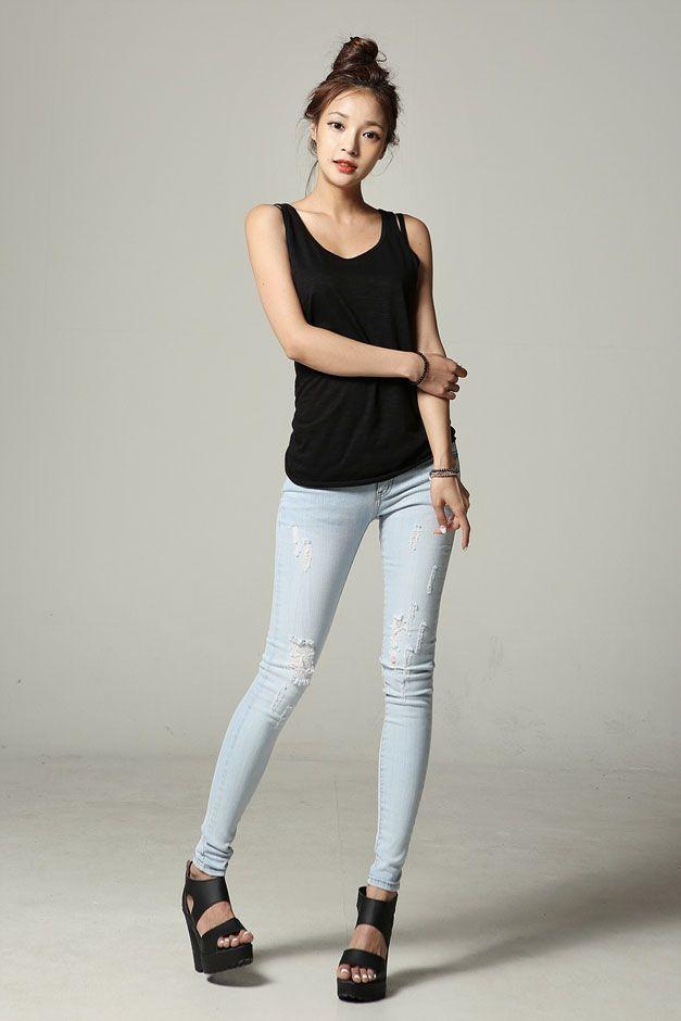 Long Cotton Tank Top 6Cs | Korean Fashion | Pinterest | Cotton