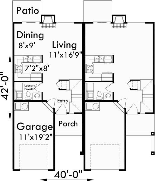 Best 25 Duplex Plans Ideas On Pinterest Duplex House