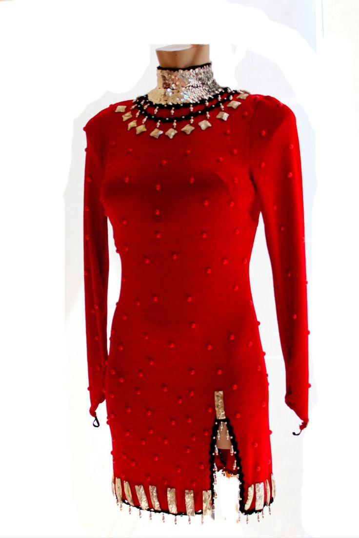 dark Red tango- latin dress