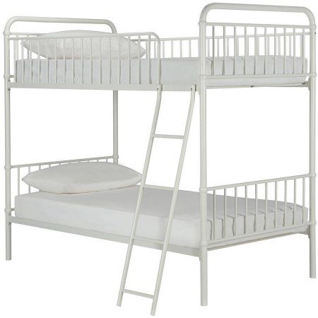 Better Homes and Gardens Kelsey Twin/Twin Metal Bunk Bed, White - Walmart.com