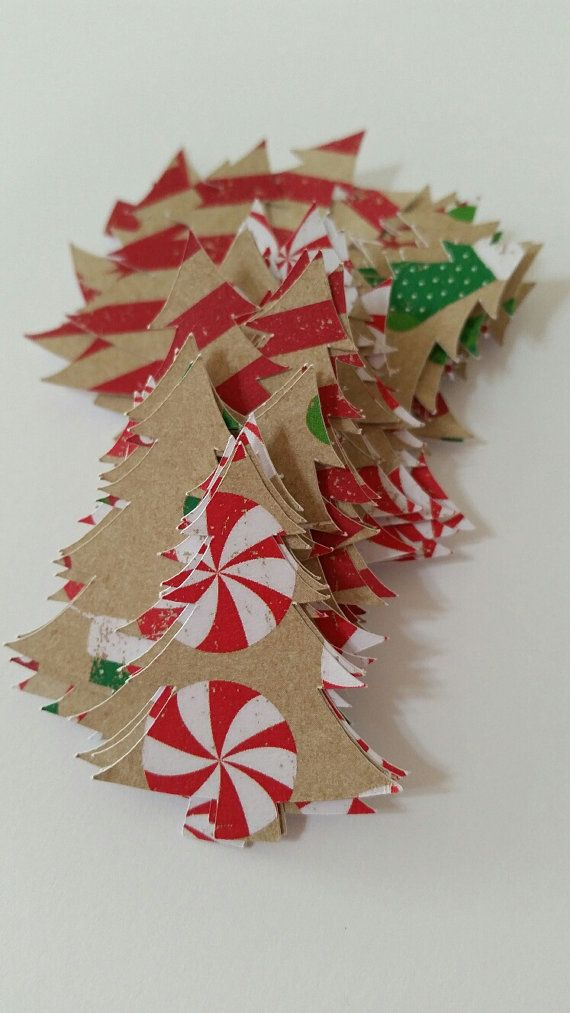 Mini Christmas Tree Confetti Scrap Booking by NightOwlEngravingLLC