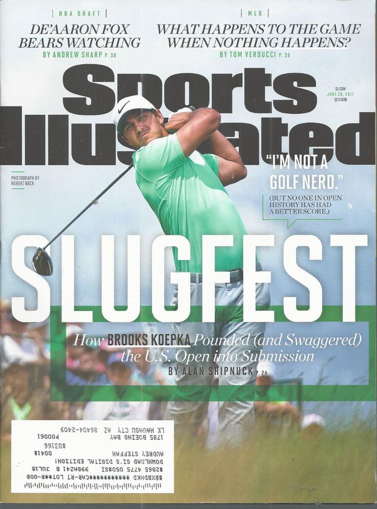 June 26 2017 Brooks Koepka Golf US Open Sports Illustrated Magazine #doesnotapply