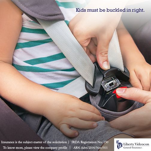 On a drive, check if your child is buckled right in the car seat. Fasten all the belts and clips and ensure harness straps fit snugly. #RoadTips