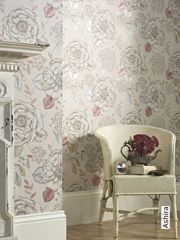 Floral Gemusterte Tapeten : Design Tapeten, Papel Pintado De Casa y Tapeten Schlafzimmer