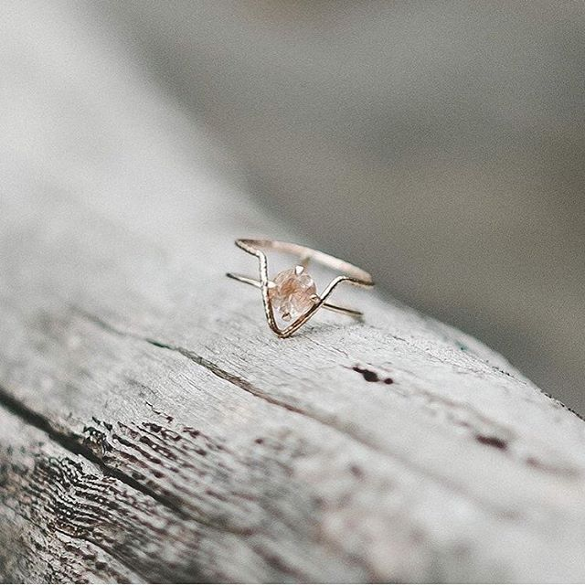 "2,340 Likes, 29 Comments - Natalie Marie Jewellery (@nataliemariejewellery) on Instagram: ""A beautiful snap of @athenagraceco 's Rutilated Quartz engagement ring set in rose gold."""