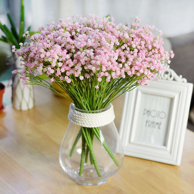 140pcs Artificial Gypsophila Bouquet Party Wedding Baby Breath Home Decoration #Unbranded