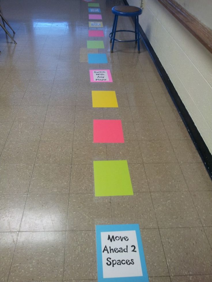 Life-Sized Board Game using cardstock and contact paper
