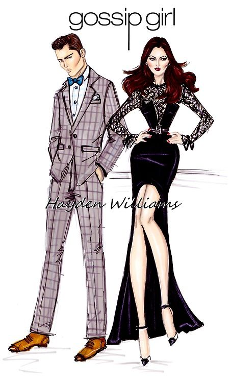 haydenwilliamsillustrations:        Gossip Girl by Hayden Williams: Chuck & Blair