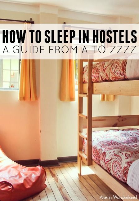 Hostel dorms present a particularly tricky sleeping situation, but they're not match for the prepared traveler!  Read on for my tried and true  sleep tips for drifting off in a dorm | Alex in Wanderland