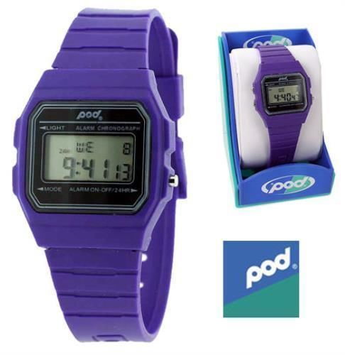 POD - Digital Sports Watch Purple    BNIB Alarm Men's Quartz Battery. check listing for availability and colour
