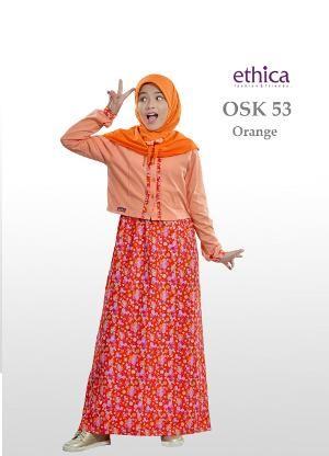 Baju Gamis Anak Ethica OSK 53 Orange Ready Size 2 - 4 - 6