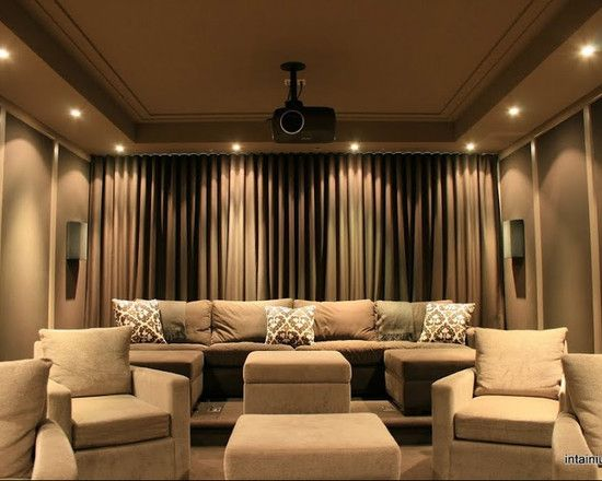 Home Theater Room Design Ideas a diy home theater room hang curtains around your seats for increased darkness during the Media Room Curtains Design Pictures Remodel Decor And Ideas Theatre Roomshome
