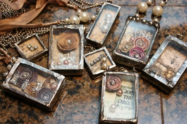soldered pendants   Scarlett Clay from Blue Purple and Scarlett.com via Luthien Thye onto A Few of My Favorite Things