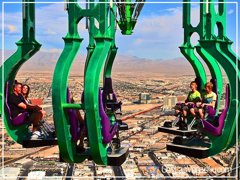 Last time we went to vegas we did this. It hangs you out over the Las Vegas strip. Nothing underneath you. Most adrenaline rushing thing of my life, but I loved it!