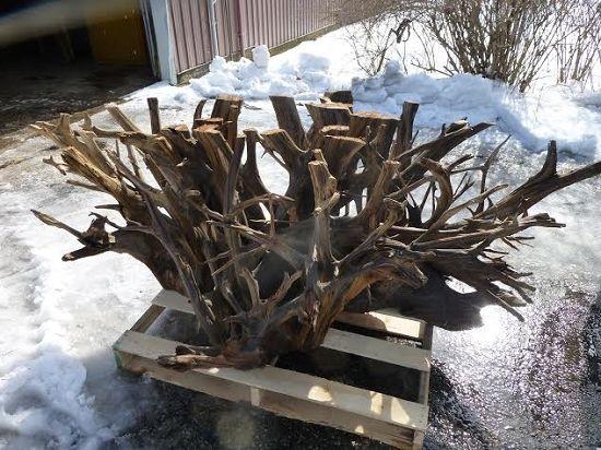 Redwood Table Base. Wood. Redwood lumber at ohio woodlands. Salvaged wood for sale. Live edge redwood wood Jared Coldwell redwood