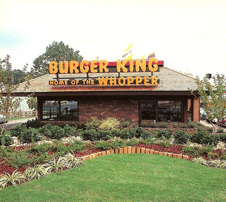 Burger King in the 70s.. They shoud all still look this nice...