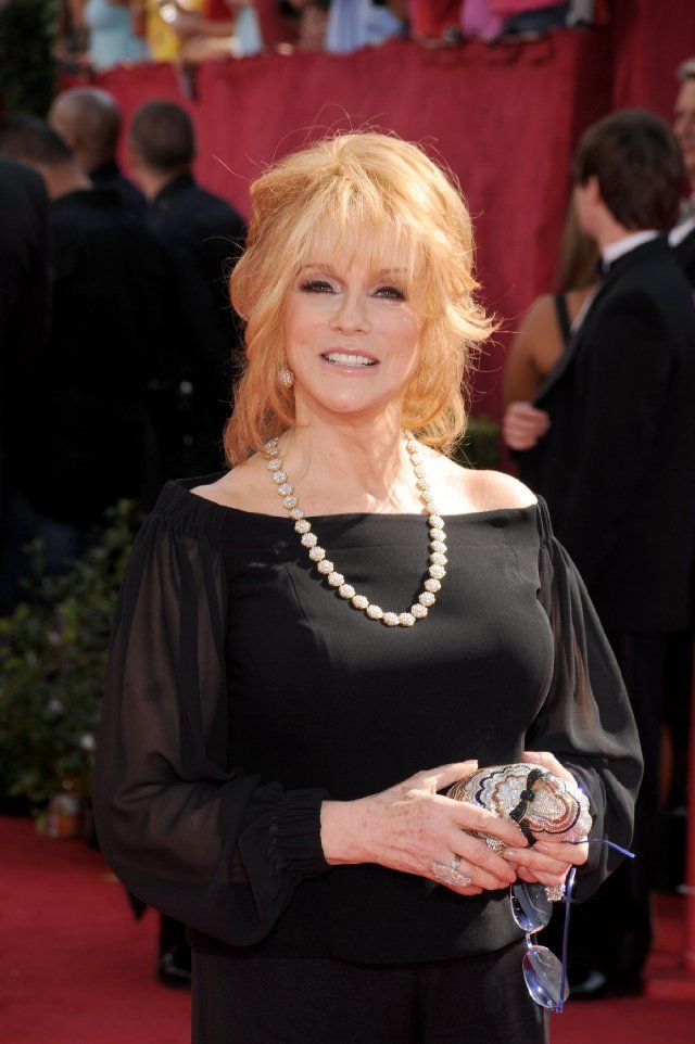 Ann-Margret  at the Emmy awards. She won the 2010 Emmy Award for Outstanding Guest Actress In A Drama Series for her role on Law & Order SVU