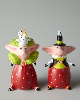 Pig Salt & Pepper Shakers at Horchow.