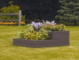 tiered stone planter box | Features: -Bed planter. -Includes 6 long panels, 2 short panels, 4 ...