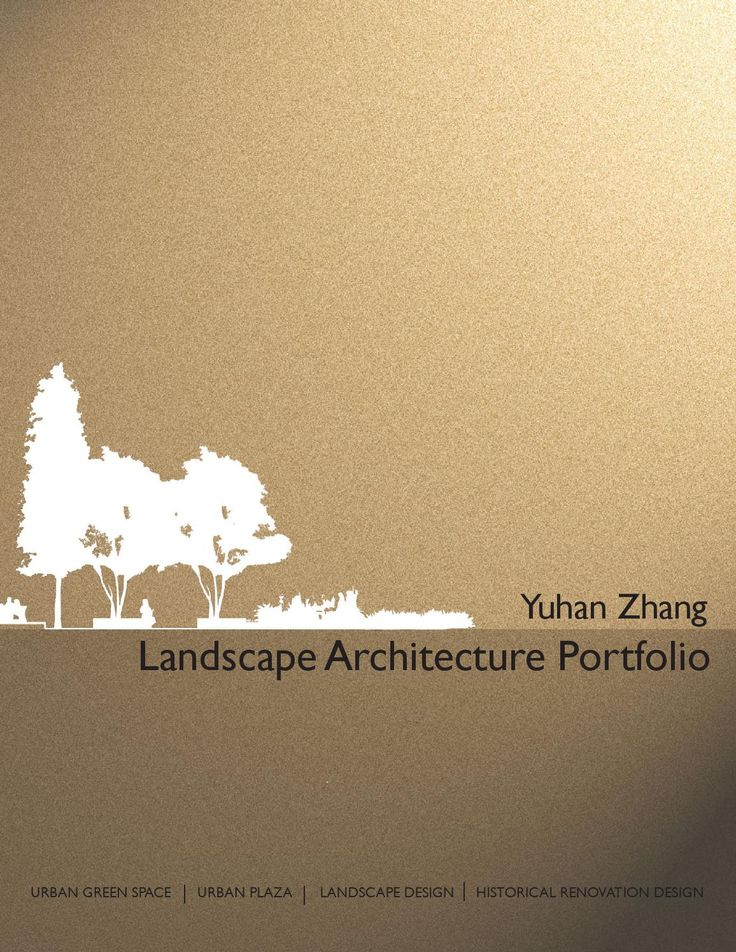 Landscape Architecture Portfolio  Landscape Architecture Portfolio for MLA2