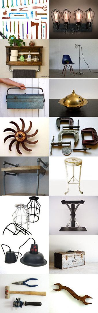 Industrial  by Elinor Levin on Etsy--Pinned with TreasuryPin.com