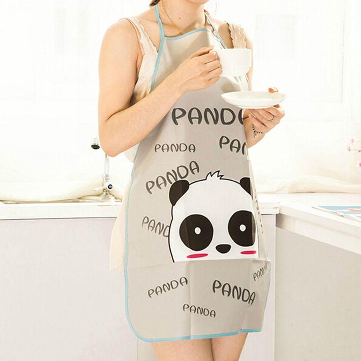 Korea Householder Apron, Waterproof Apron, PVC Apron, Cartoon Apron Cleaning Cute Lady Cooking Dress Hello Kitty Kawaii Gift #Affiliate